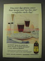 1958 Sunsweet Prune Juice Ad - Keeps You On-The-Dot