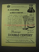 1958 Domecq's Double Century Sherry Ad - Crowning