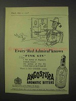 1958 Angostura Aromatic Bitters Ad - Red Admiral