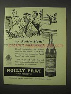 1958 Noilly Prat Vermouth Ad - French Will be Perfect