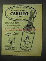 1958 Williams & Humbert Carlito Sherry Ad!