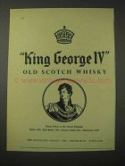 1958 King George IV Scotch Ad - Old Scotch Whisky
