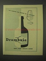 1958 Drambuie Liqueur Ad - You Prefer to Be Offered