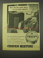 1958 Craven Mixture Tobacco Ad - Music