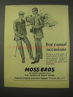 1958 Moss Bros Clothing Ad - For Casual Occasions