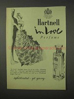 1958 Hartnell In Love Perfume Ad - Sophisticated