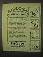 1958 New Zealand Tourism Ad - Spectacular Scenery