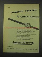 1958 Jaeger-LeCoultre Watch Ad - Marvell