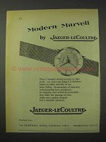 1958 Jaeger-LeCoultre Watch Ad - Modern Marvell
