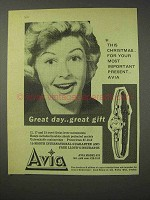 1958 Avia Model 678 Watch Ad - This Christmas