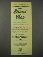 1958 Scottish Widows' Fund Ad - Bonus Year