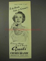1958 Grant's Morella Cherry Brandy Ad - I Like