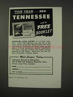 1958 Tennessee Tourism Ad - This Year See Tennessee