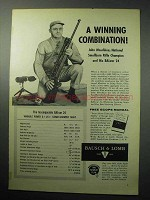 1958 Bausch & Lomb BALvar 24 Scope Ad - Winning