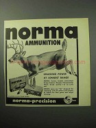 1958 Norma Bullets Ad - Smashing Power