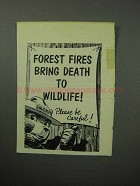 1958 Forest Fires Bring Death Ad - Smokey the Bear