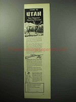 1957 Utah Tourism Ad - Your Happiest Hunting Ground