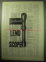 1957 Bushnell ScopeChief Scope Ad - Dares Lend You