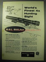 1957 Bausch & Lomb BALFor Scope Ad - World's Finest
