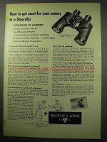 1956 Bausch & Lomb Zephyr-Light 7x 35mm Binocular Ad