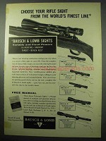 1956 Bausch & Lomb BALscope Sr. Spotting Scope Ad