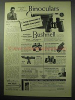 1956 Bushnell Bincoluars Ad - Wildlife To Our Patio