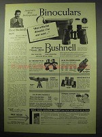 1956 Bushnell Bincoluars Ad - Most Effective I've Used