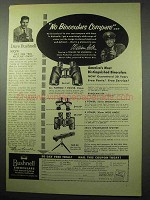 1956 Bushnell Binoculars Ad - William Holden
