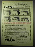 1956 Walther Mark II Pistol Ad - PPK, PP, Sport +