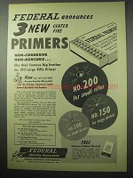 1956 Federal Primers Ad - Announces 3 New Center Fire