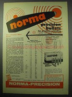 1956 Norma Bullets Ad - Precision Bullets for Reloading
