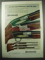 1956 Browning Gun Ad - Double Automatic Shotgun +