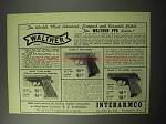 1956 Walther Mark II PPK Pistol Ad - Compact Versatile