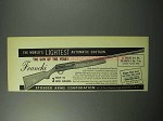 1956 Franchi Automatic Shotgun Ad - Lightest
