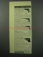 1956 Walther Pistol Ad - PPK, SC, LP-53, UP Model 1
