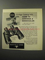 1956 Bausch & Lomb Bincocular Ad - How to Choose