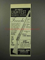 1956 Franchi Automatic Shotgun Ad - World's Lightest