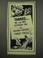 1956 Helping Prevent Forest Fires Ad - Smokey the Bear