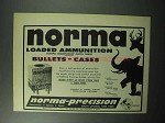 1957 Norma Loaded Ammunition Ad