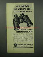 1957 Bausch & Lomb Binoculars Ad - The World's Best