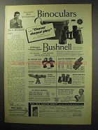 1955 Bushnell Binoculars Ad - Clearest Sharpest Glass