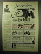 1955 Bushnell Binoculars Ad - They Are Really Super