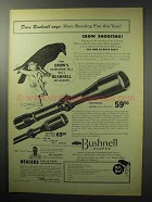 1955 Bushnell 6x Scope Chief Ad - More Shooting Fun