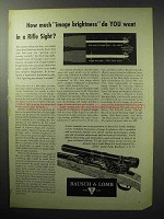 1955 Bausch & Lomb Rifle Sight Ad - Image Brightness