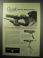 1955 Bausch & Lomb BALscope Spotting Scope Ad