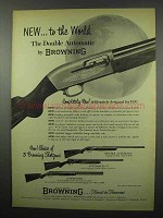 1955 Browning Double Automatic Shotgun Ad - The World