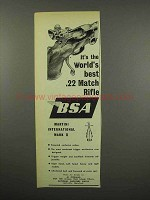 1955 BSA Martini International Mark II Rifle Ad - Best