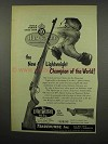 1955 Husqvarna Lightweight Rifle Ad - Champion of World