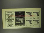 1955 Galesi Pistol Ad - Model 503; 512; 506; 515; 505