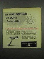 1955 Bausch & Lomb BALscope Spotting Scope Ad - Easier